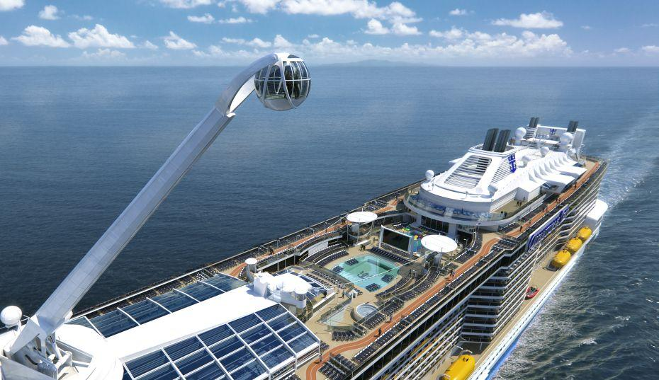 Anthem of the Seas - Royal Caribbean International - pohled na horní palubu lodi